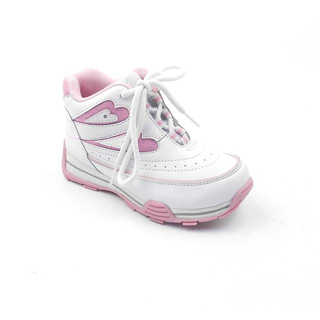 Adidasi fete BAM 581, alb-roz