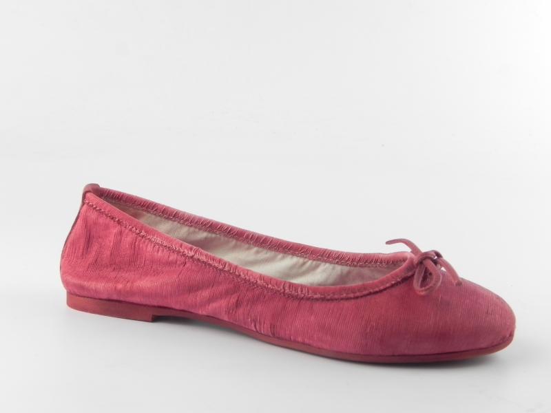 Balerini dama din piele E400 Rosso capra-intagliata