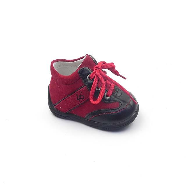 Pantofi casual BAM 537, rosu-negru