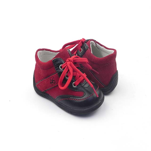 Pantofi casual unisex BAM 537, rosu-negru