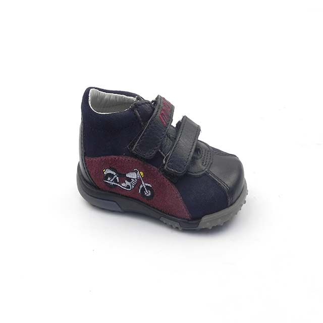 Pantofi casual BAM 538, bleumarin-visiniu-negru
