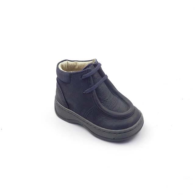 Pantofi casual din piele BOX, BAM 542, bleumarin