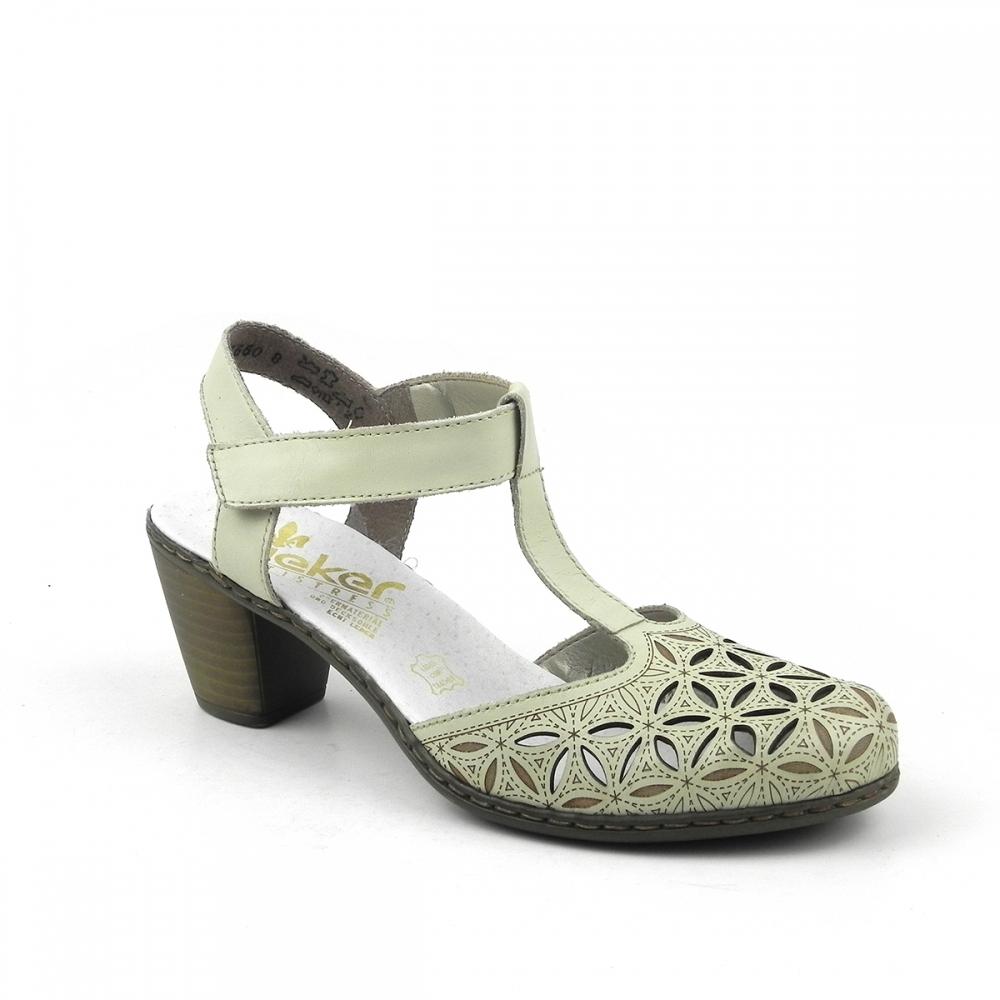 Pantofi dama kasia crem RIEKER