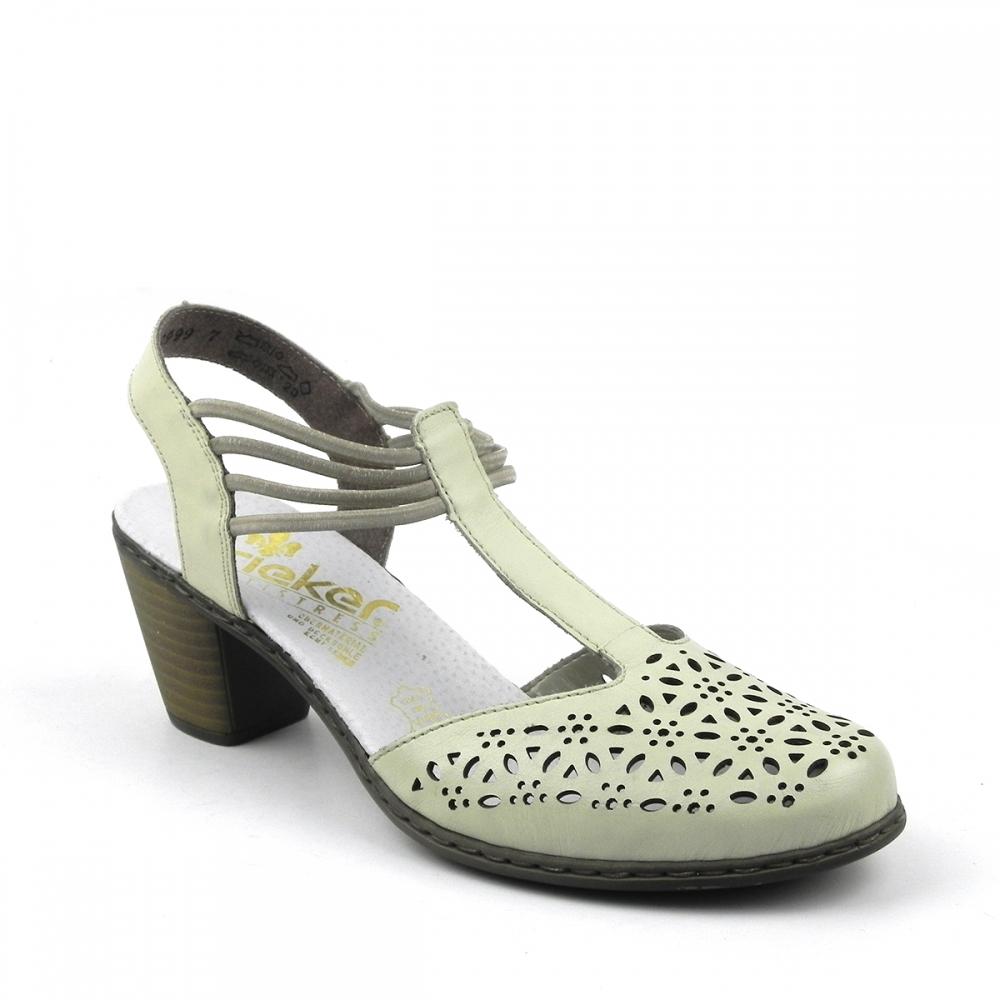 Pantofi dama Mina crem RIEKER