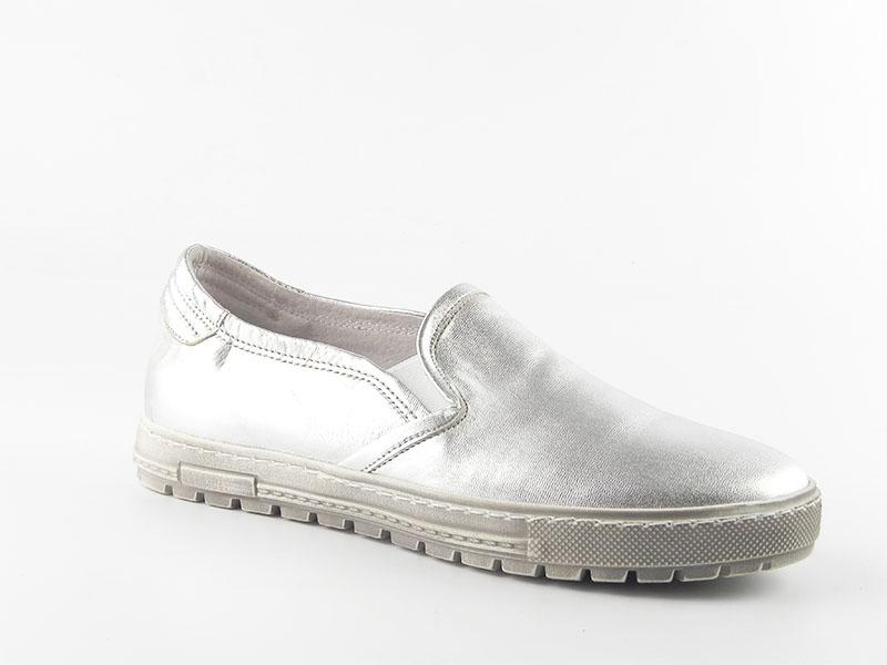 Pantofi dama piele naturala Adela argintiu