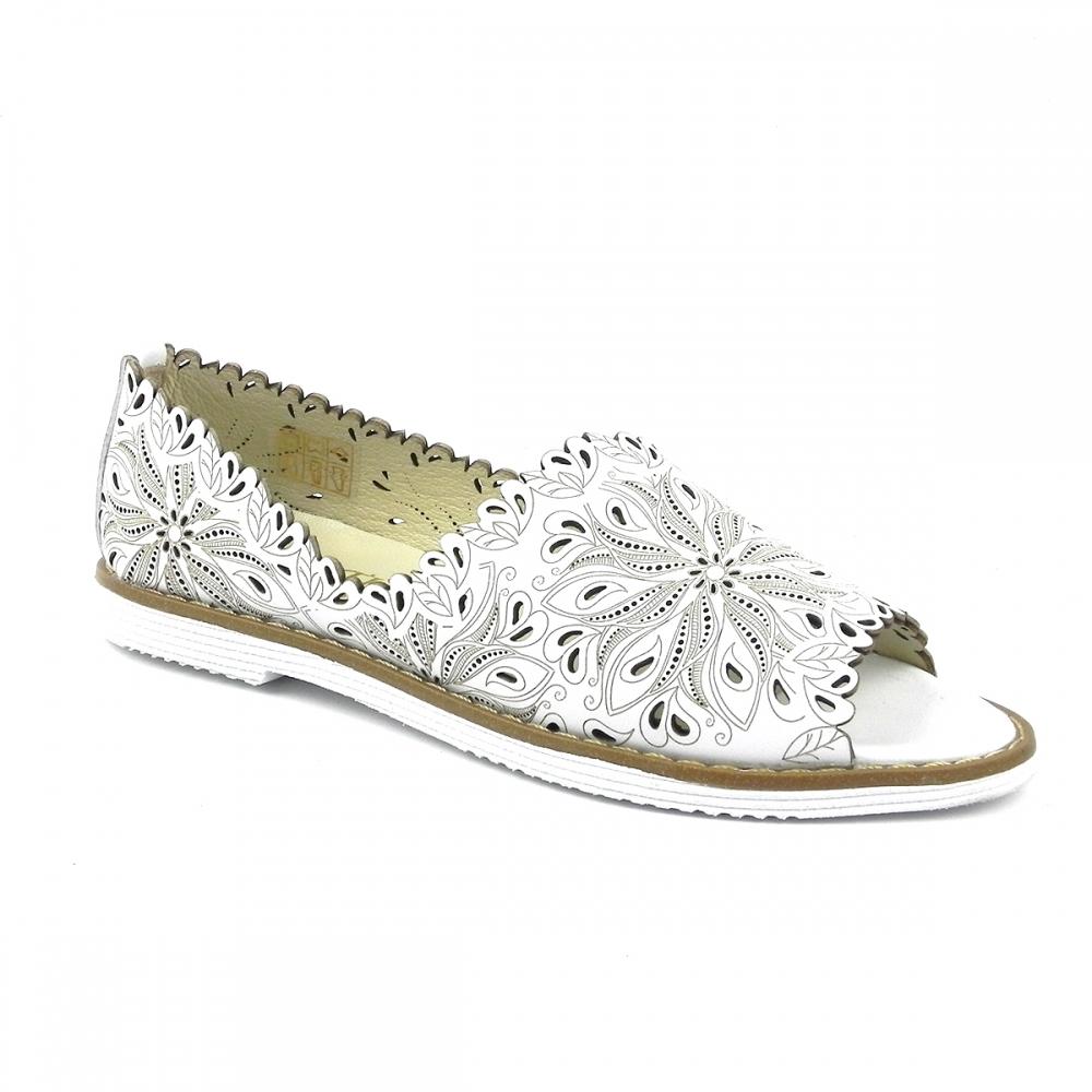 Pantofi dama romara alb