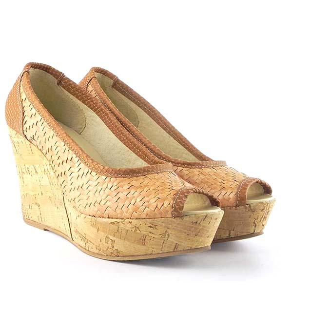 Pantofi decupati Zeppa 0023B