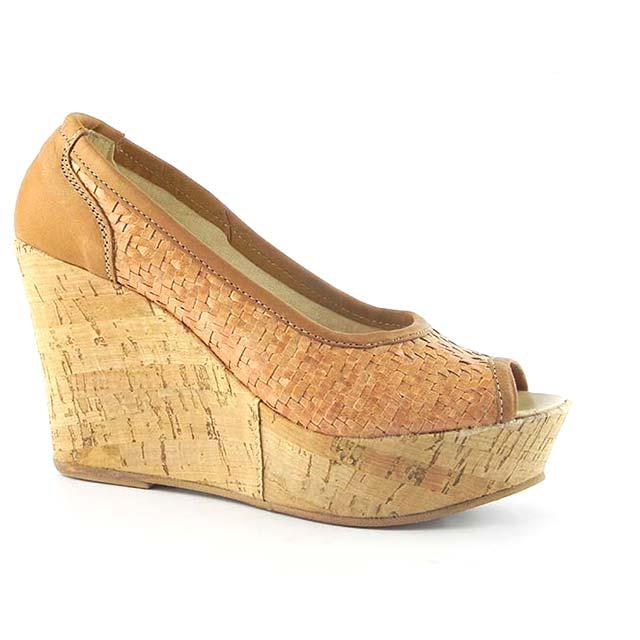 Pantofi decupati Zeppa 0025BM