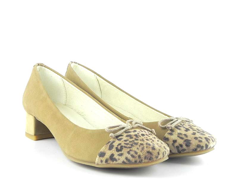 Pantofi din piele naturala intoarsa GRETA 026 NS