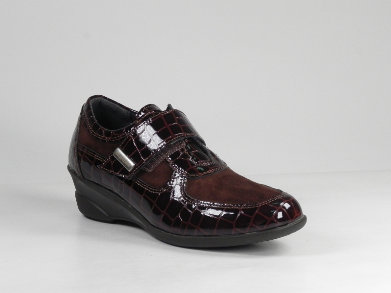Pantofi sport dama din piele lac croco7021-040