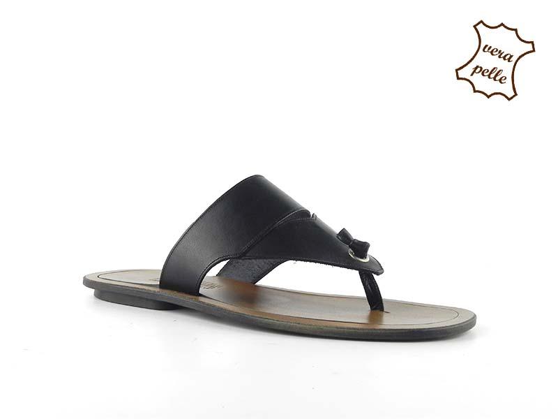 Papuci din piele naturala 051N