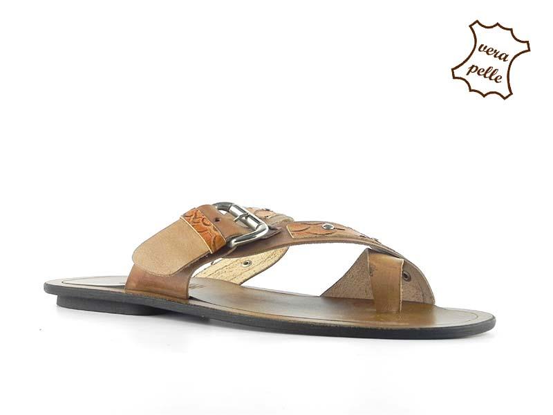 Papuci din piele naturala 200C