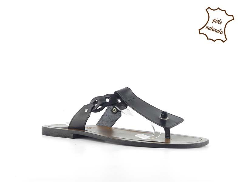 Papuci din piele naturala 301N