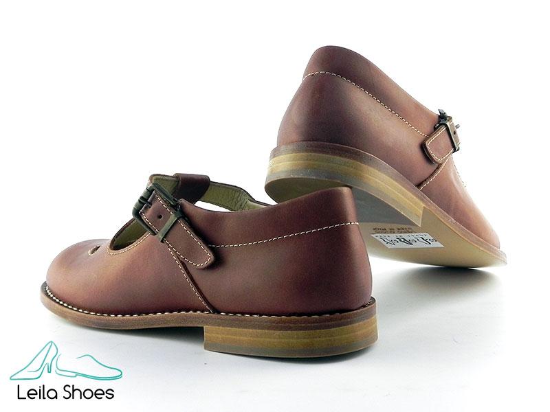 Pantofi din piele naturala BAM 359