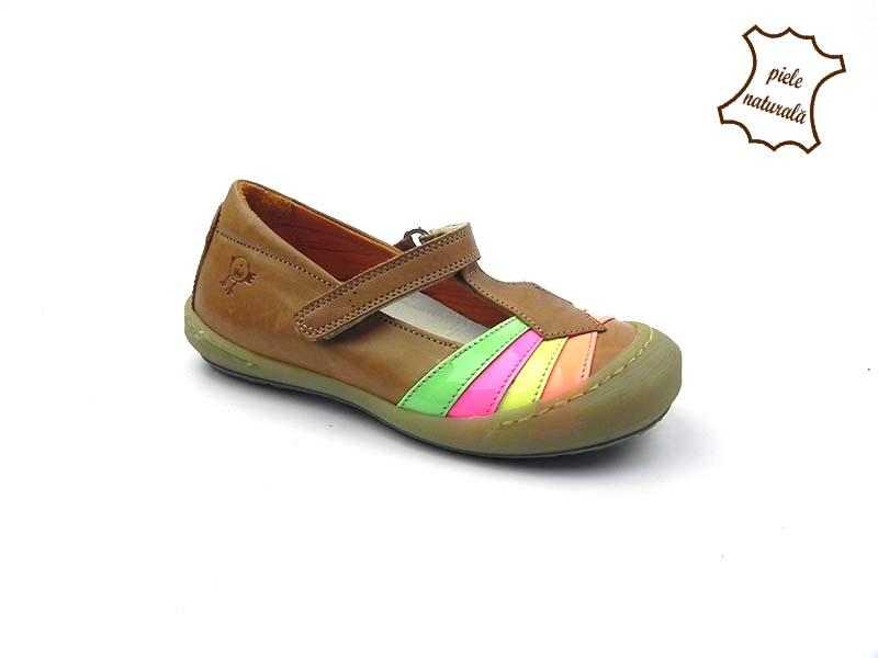 Pantofi din piele naturala BAM 452