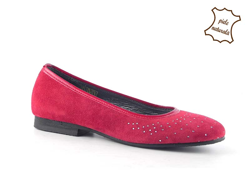Balerini din piele naturala Rossa 7626-054