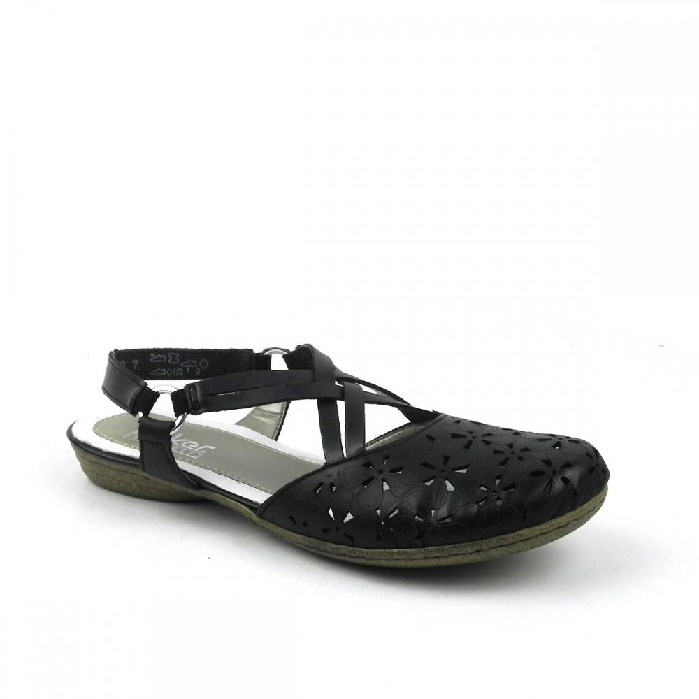 Sandale dama Faith negru RIeker