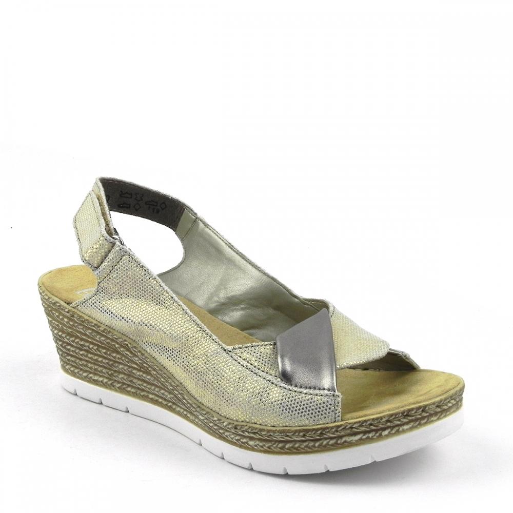 sandale dama Gizeh auriu RIEKER