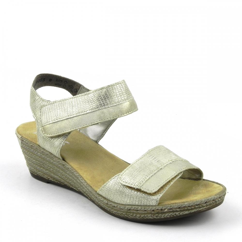 sandale dama Lambent auriu RIEKER