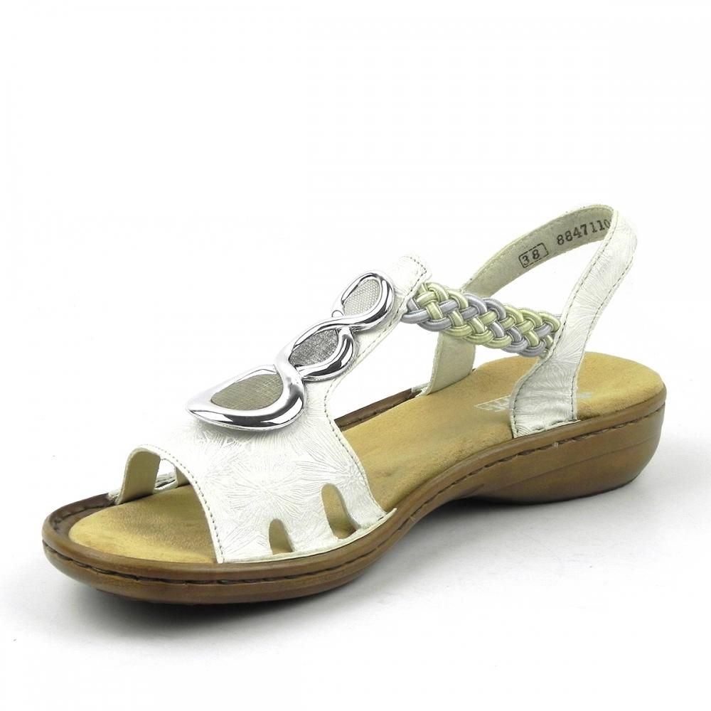 sandale dama Ursula alb RIEKER