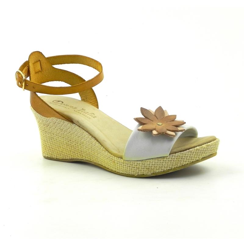 Sandale din piele naturala Flower 202GAF DNI