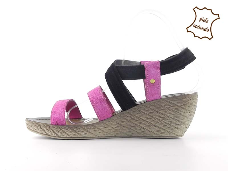 Sandale din piele naturala intoarsa Beatrice ITALY-05