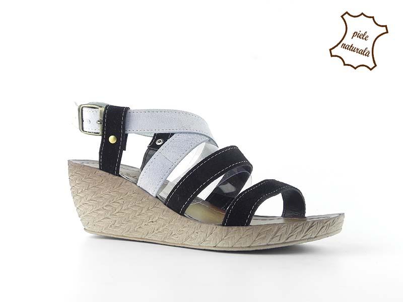 Sandale din piele naturala intoarsa Beatrice ITALY-04