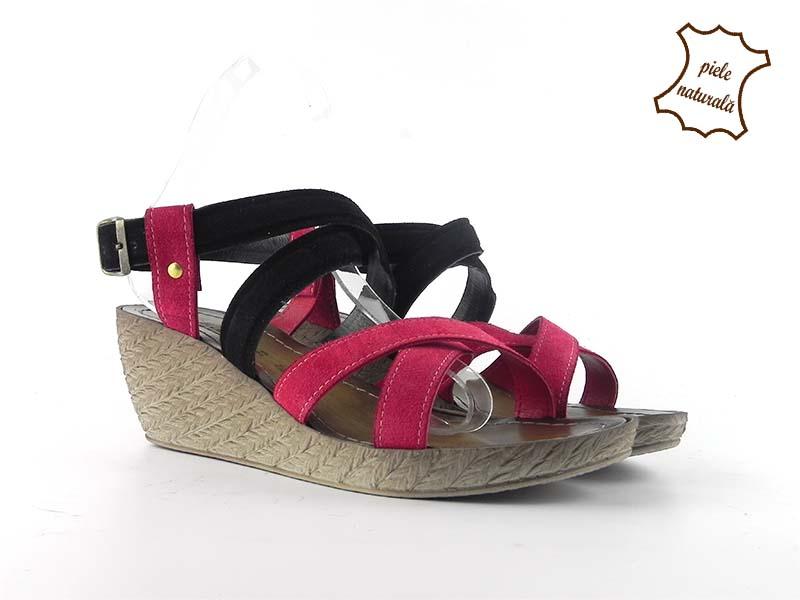 Sandale din piele naturala intoarsa ITALY-12
